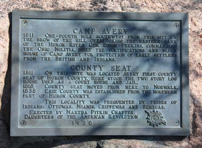 Camp Avery / County Seat Marker image. Click for full size.