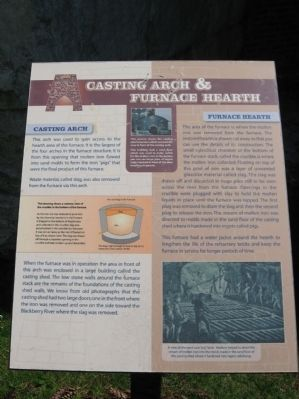 Casting Arch & Furnace Hearth Marker image. Click for full size.