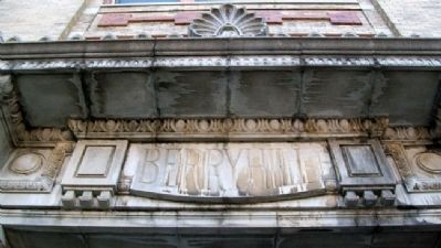 Frontispiece Over Berryhill Bldg Entrance image. Click for full size.