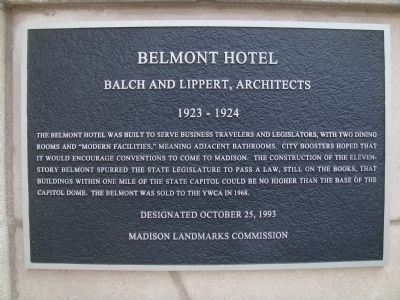 Belmont Hotel Marker image. Click for full size.
