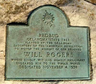 D.A.R. Will Rogers Memorial Marker image. Click for full size.