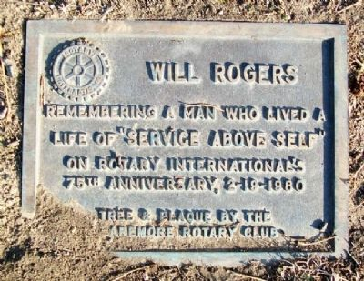 Rotary International Will Rogers Memorial Marker image. Click for full size.