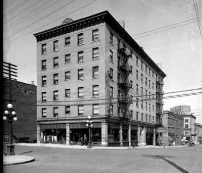 The St. Regis Hotel in 1915 (image courtesy of the Vancouver Public Library) image. Click for full size.