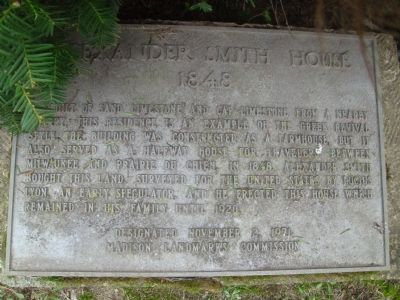 Alexander Smith House Marker image. Click for full size.