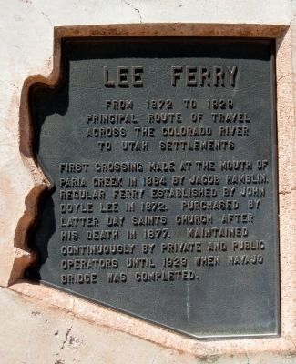Lee Ferry Marker image. Click for full size.