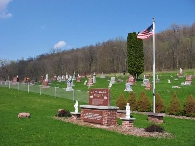 St. Patrick's Marker and Cemetery image. Click for full size.