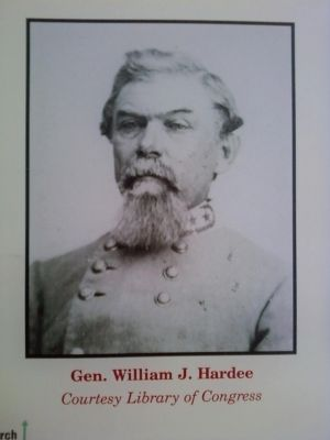 Gen. William J. Hardee - image on marker image. Click for full size.