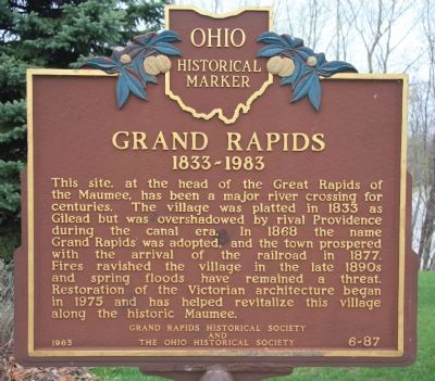 Grand Rapids Marker image. Click for full size.