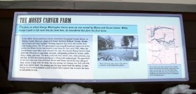 The Moses Carver Farm Marker image. Click for full size.