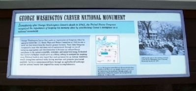 George Washington Carver National Monument Marker image. Click for full size.