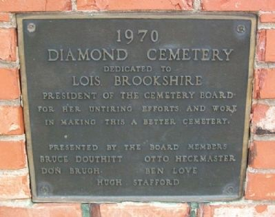 Lois Brookshire Memorial Marker image. Click for full size.