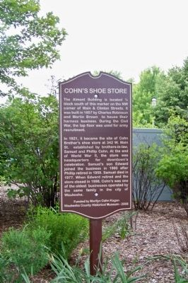 Cohn's Shoe Store Marker image. Click for full size.