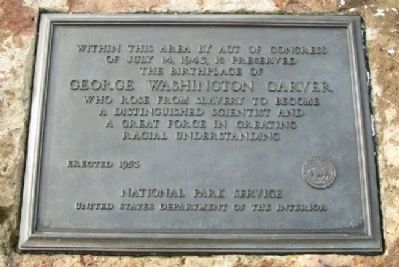 Birthplace of George Washington Carver Marker image. Click for full size.