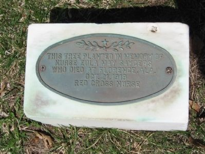 Marker behind the Monument image. Click for full size.