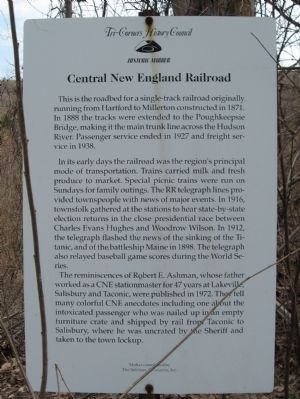 Central New England Railroad Marker image. Click for full size.