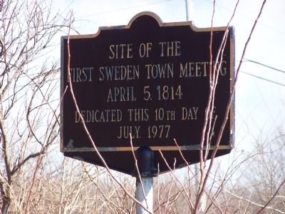 Site of the First Sweden Town Meeting Marker image. Click for full size.