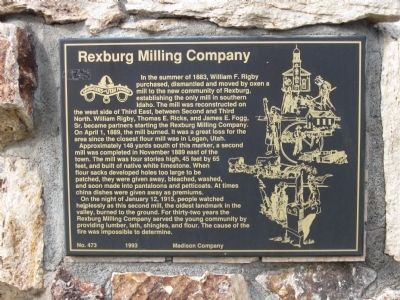 Rexburg Milling Company Marker image. Click for full size.