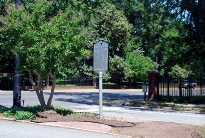 Converse Heights Marker -<br>Intersection of East Main Street (U.S. 29)<br>and Mills Avenue image. Click for full size.