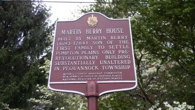 Martin Berry House Marker image. Click for full size.