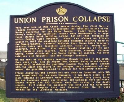Union Prison Collapse Marker image. Click for full size.