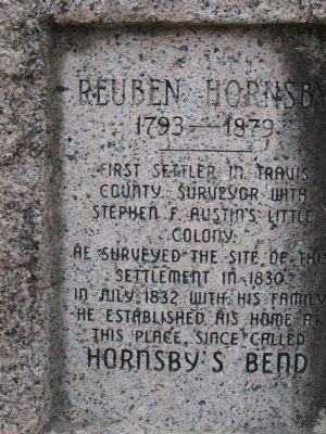 Reuben Hornsby Marker image. Click for full size.