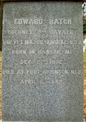 Edward Hatch Monument image. Click for full size.