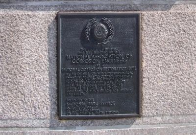 National Assoc. of Corrosion Engineers Plaque image. Click for full size.