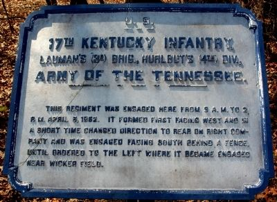 17th Kentucky Infantry Marker image. Click for full size.