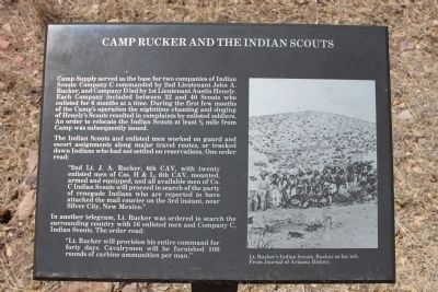 Camp Rucker and the Indian Scouts Marker image. Click for full size.