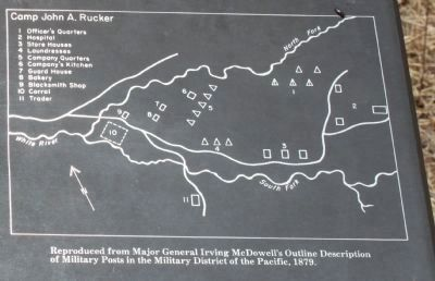 Site Map Close-Up From the Nearby Camp Rucker Timeline Interpretive Marker image. Click for full size.
