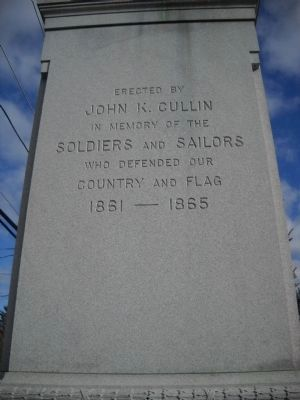 Hillsdale Soldiers and Sailors Monument Marker image. Click for full size.
