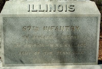 57th Illinois Monument Marker image. Click for full size.