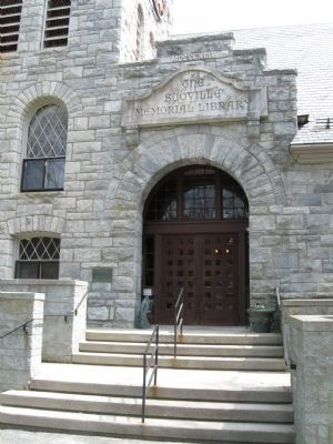 The Entrance to the Scoville Memorial Library image. Click for full size.