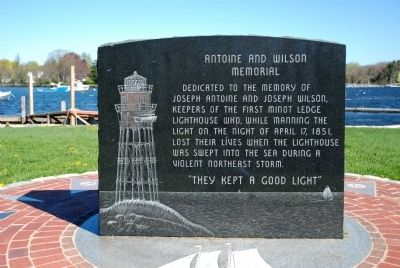 Antoine and Wilson Memorial Marker image. Click for full size.