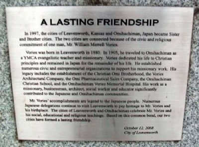 A Lasting Friendship Marker image. Click for full size.