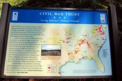 Civil War Trust<br>Saving America's Hallowed Ground image. Click for full size.