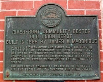 Riverfront Community Center Marker image. Click for full size.