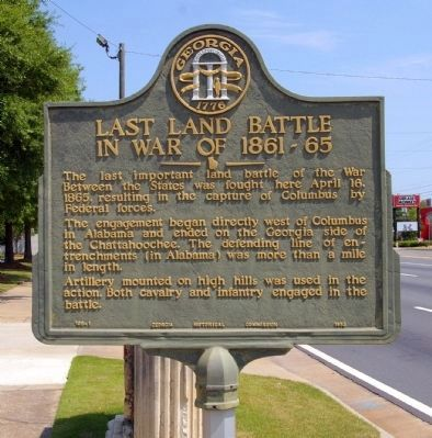 Last Land Battle in War of 1861-1865 Marker image. Click for full size.