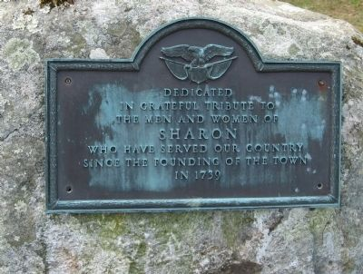Dedicated to the Men and Women of Sharon Marker image. Click for full size.