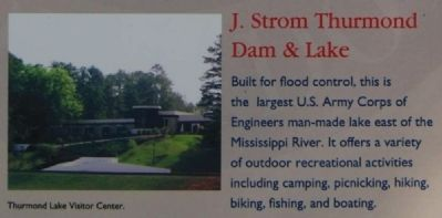 McCormick County Marker -<br>J. Strom Thurmond Dam & Lake image. Click for full size.