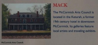 McCormick County Marker -<br>MACK image. Click for full size.
