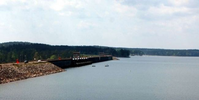 J. Strom Thurmond Dam -<br>North Side<br>View from Visitor&#39;s Center image. Click for full size.