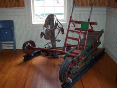 Branchville Depot - Mr. J. Norris' Velocipede and Pole climbing tools image. Click for full size.