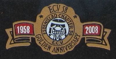 The Ancient and Honorable Order of E Clampus Vitus Marker - closeup of chapter seal image. Click for full size.