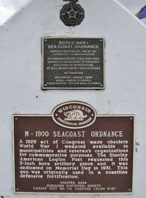 M-1900 Seacoast Ordnance Marker image. Click for full size.