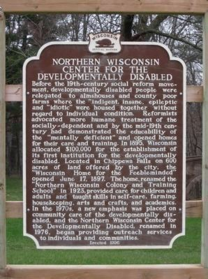 Northern Wisconsin Center for the Developmentally Disabled Marker image. Click for full size.