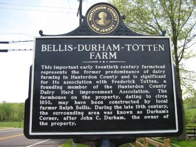 Bellis - Durham - Totten Farm Marker image. Click for full size.