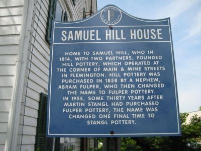 Samuel Hill House Marker image. Click for full size.