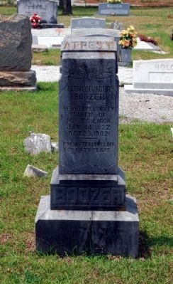 George Burder Boozer Tombstone image. Click for full size.