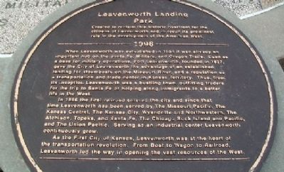 Leavenworth Landing Park Marker image. Click for full size.